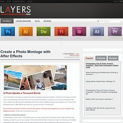 Create a Photo Montage with After Effects Layers Magazine | Layers Magazine