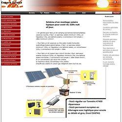 Schema montage solaire, câblage