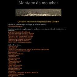 Montage de mouche, ressources sur internet