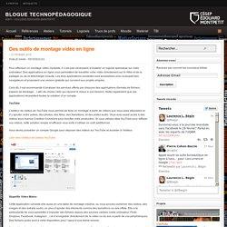 Des outils de montage vidéo en ligne
