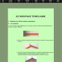 Montage tubulaire