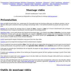 Montage vidéo sous linux