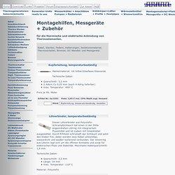 Montagematerial und Messgeräte - Waterfox