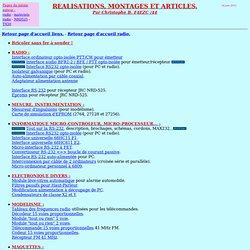 MONTAGES ELECTRONIQUES ET ARTICLES