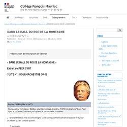 DANS LE HALL DU ROI DE LA MONTAGNE - Collège François Mauriac - Louvres