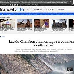 Lac du Chambon : la montagne a commencé à s'effondrer