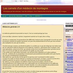 Proposition/pétition Médecine générale 2.0