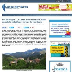 Loi Montagne : La Corse enfin reconnue, dans un article spécifique, comme île montagne
