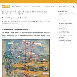 Société Paul Cezanne – Les « Montagne Sainte-Victoire » du plateau de Valcros et les collines de l'est d'Aix-en-Provence – V (R901)