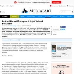 Lettre d'Hubert Montagner à Najat Vallaud Belkacem (20 janvier 2015)