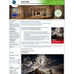 EDYTEM - Atlas des Montagnes – Espaces habités, mondes imaginés