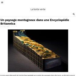 Un paysage montagneux dans une Encyclopédie Britannica