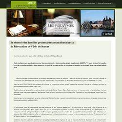 Le devenir des familles protestantes montalbanaises à la Révocation de l'Edit de Nantes - Société Montalbanaise d'Etudes et de Recherches sur le protestantisme