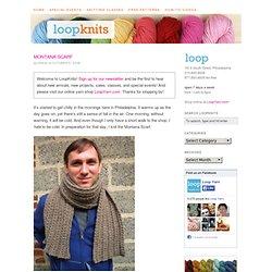 Montana Scarf Free Knitting Pattern