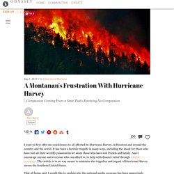 A Montanan's Frustration with Hurricane Harvey