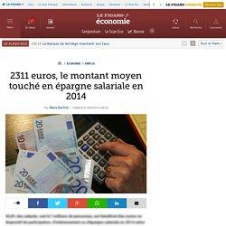 2311 euros, le montant moyen touché en épargne salariale en 2014