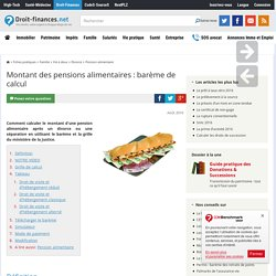 Pour enfants template92 pearltrees - Table de reference pension alimentaire ...