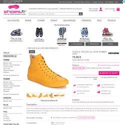 Baskets montantes Converse CHUCK TAYLOR ALL STAR RUBBER Jaune - Chaussure pas cher avec Shoes.fr ! - Chaussures 79,99 €