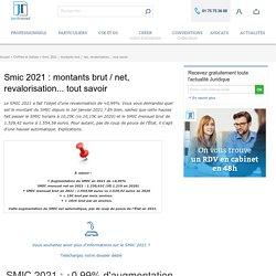 Smic 2021 : montants brut / net, revalorisation... tout savoir