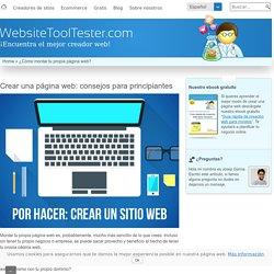 ¿Cómo montar tu propia página web? Consejos para novatos