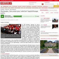 Montauban. Des pistes pour valoriser l'apprentissage public - 06/04/2013 - LaDépêche