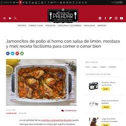 Pollo al horno con salsa de montaza y limón. Receta de cocina fácil y deliciosa
