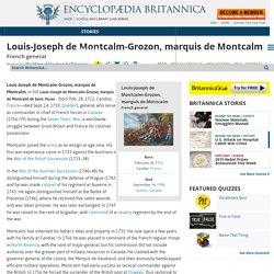 Louis-Joseph de Montcalm-Grozon, marquis de Montcalm