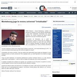 """Montebourg juge le revenu universel """"irréalisable"""""""