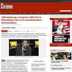 «Montebourg a toujours défendu la République face à la mondialisation économique»