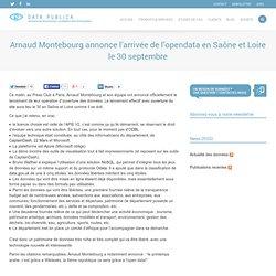 Arnaud Montebourg annonce l'arrivée de l'opendata en Saône et Loire le 30 septembre