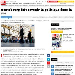 Montebourg fait revenir la politique dans la rue
