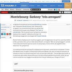 Montebourg: Sarkozy ''très arrogant''