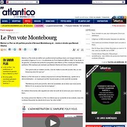 Marine Le Pen voterait pour Arnaud Montebourg si elle était socialiste