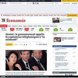 """Alcatel-Lucent : Montebourg appelle les opérateurs téléphoniques à """"la solidarité"""""""