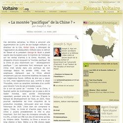 """« La montée """"pacifique"""" de la Chine ? », par Joseph S. Nye"""