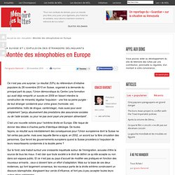 Montée des xénophobies en Europe