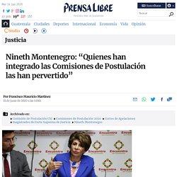 """Nineth Montenegro: """"Quienes han integrado las Comisiones de Postulación las han pervertido"""""""