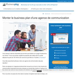 Monter le business plan d'une agence de communication