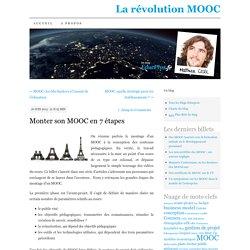 Monter son MOOC en 7 étapes