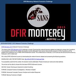 DFIR Monterey Network Forensics Challenge Survey
