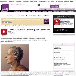 Qui fait la loi ? (2/4) : Montesquieu, l'esprit des lois