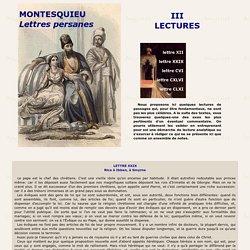 Montesquieu :Lettres Persanes