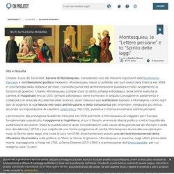Montesquieu, il liberalismo e l'Illuminismo