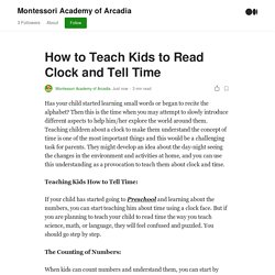 How to Teach Kids to Read Clock and Tell Time
