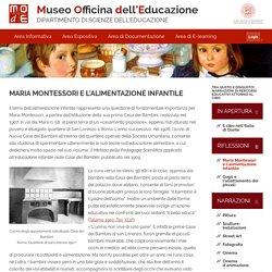 Maria Montessori e l'alimentazione infantile · Tra gusto e disgusto! Narrazioni di percorsi educativi attorno al cibo · MOdE