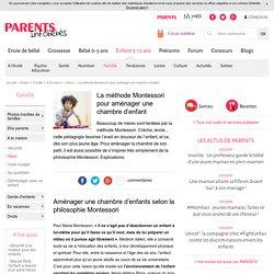 Montessori : aménager une chambre d'enfant