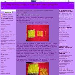 système décimal perles dorées Montessori