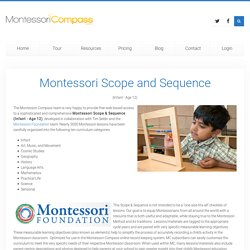 Montessori Compass - Scope & Sequence