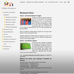 L'Atelier Montessori : tout pour fabriquer son matériel Montessori