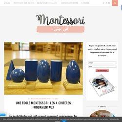 Une école Montessori: Les 4 critères fondamentaux